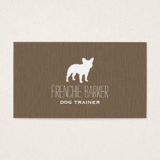 French Bulldog Silhouette Business Card