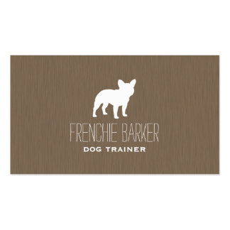 French Bulldog Silhouette Double-Sided Standard Business Cards (Pack Of 100)