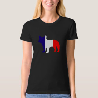 French Bulldog Silhouette Flag of France T-shirt