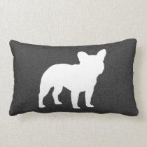 French Bulldog Silhouette Lumbar Pillow