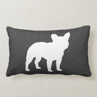 French Bulldog Silhouette Lumbar Pillow