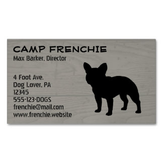 French Bulldog Silhouette Magnetic Business Card
