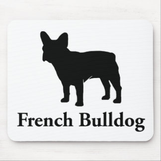 French Bulldog Silhouette Mouse Pad