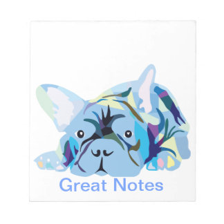 French Bulldog silhouette Notepad