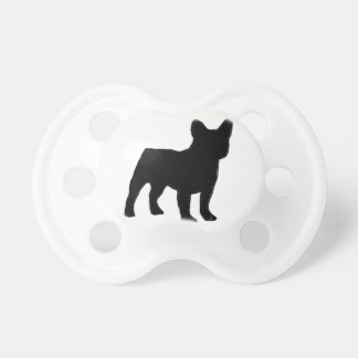 french bulldog silhouette pacifier