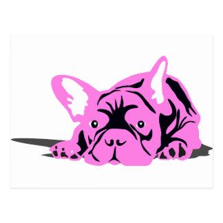 French Bulldog Silhouette Postcard