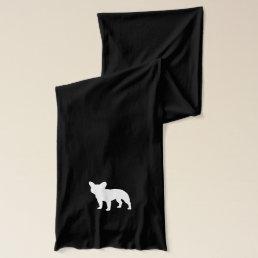 French Bulldog Silhouette Scarf