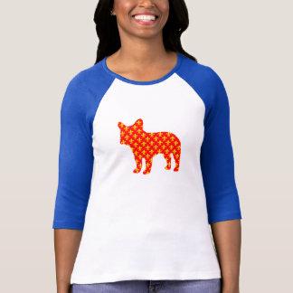 French bulldog Silhouette T-shirt fluer de lis