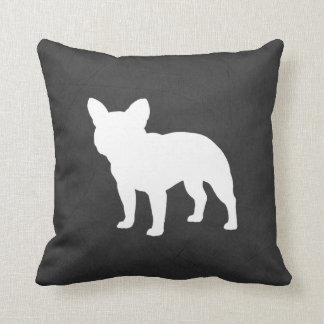 French Bulldog Silhouette Throw Pillow