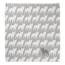 French Bulldog Silhouettes Pattern Bandana