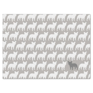 French Bulldog Silhouettes Pattern Tissue Paper