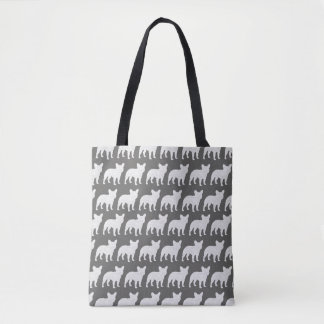 French Bulldog Silhouettes Pattern Tote Bag