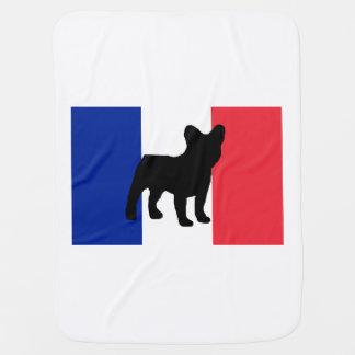 french bulldog silo France flag.png Baby Blanket