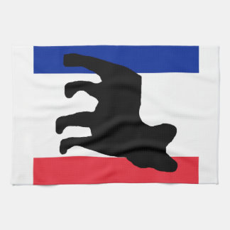 french bulldog silo France flag.png Hand Towels