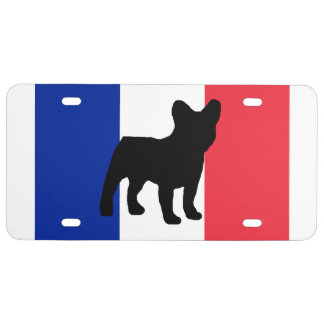 french bulldog silo France flag.png License Plate