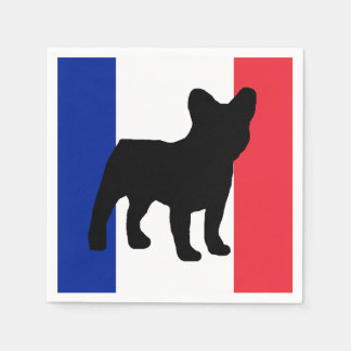 french bulldog silo France flag.png Paper Napkin