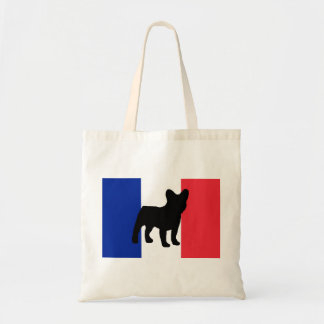 french bulldog silo France flag.png Tote Bag