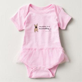 french bulldog sister baby bodysuit