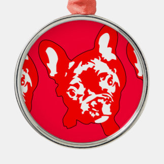 French Bulldog sitting Metal Ornament