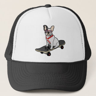 French Bulldog Skateboarding Hat