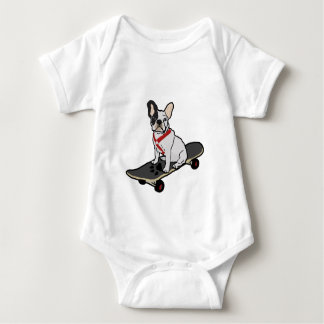 French Bulldog Skateboarding Infant's Creeper