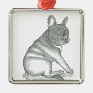 French Bulldog sketch ornament