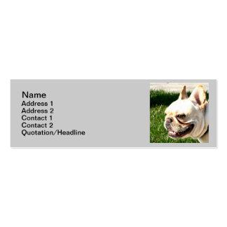 French Bulldog Skinny Business Cards
