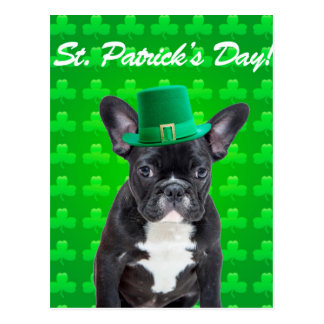 French Bulldog St Patrick's Day Postcard