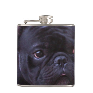 French Bulldog stainless steel flask