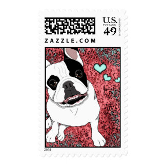 French Bulldog Stamps