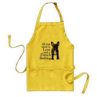 French Bulldog Standard Apron - Love