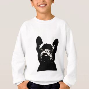 French Bulldog Stencil Design Sweatshirt