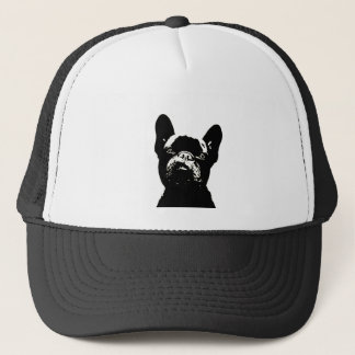 French Bulldog Stencil Design Trucker Hat