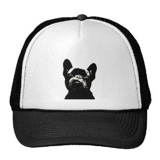French Bulldog Stencil Design Trucker Hat