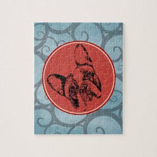 French Bulldog Stencil Head Tilt Jigsaw Puzzle