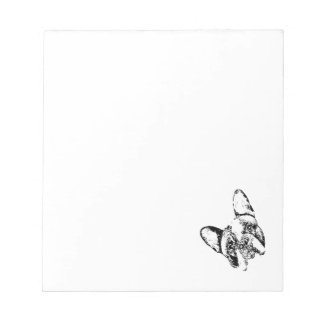 French Bulldog Stencil Head Tilt Notepad