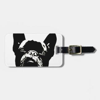 French Bulldog Stencil Luggage Tag