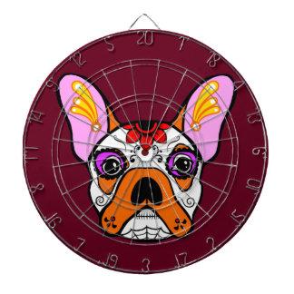 French Bulldog Sugar Skull Dartboards