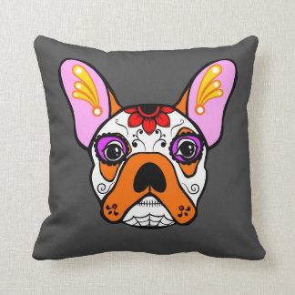 French Bulldog Sugar Skull Pillow