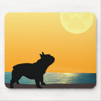 French Bulldog Surfside Sunset Mouse Pads