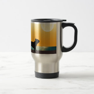 French Bulldog Surfside Sunset Travel Mug