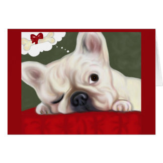 French Bulldog Sweet Dreams Card