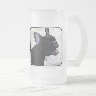 French Bulldog tall frosted mug