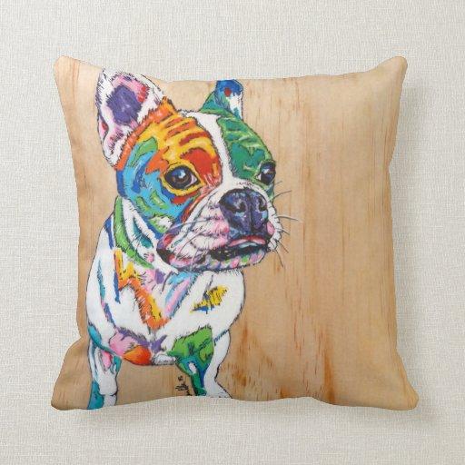Throw Pillow In French : French bulldog throw pillow Zazzle