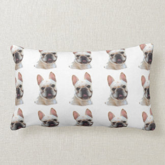 "French Bulldog Throw Pillow Lumbar 13"" x 21"""