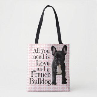 French Bulldog Tote Bag - Love