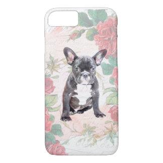 French Bulldog valentine roses iphone case
