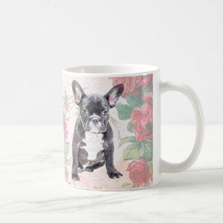 French Bulldog valentine roses mug