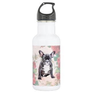 French Bulldog valentine roses Stainless Steel Water Bottle