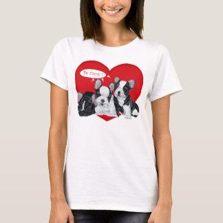 French Bulldog Valentine T-Shirt